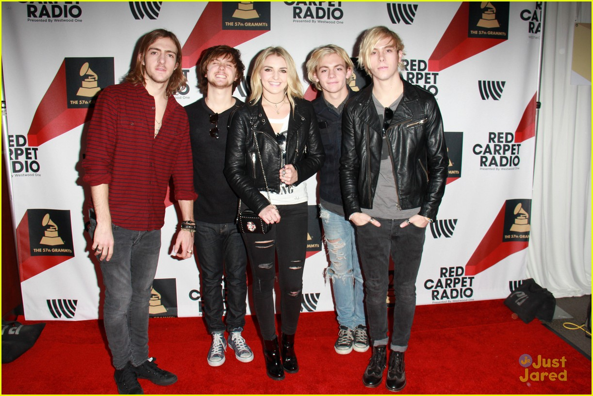 r5 pregrammy red carpet row pics 01
