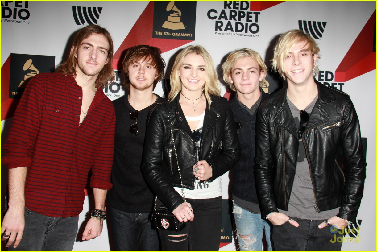 r5 pregrammy red carpet row pics 06