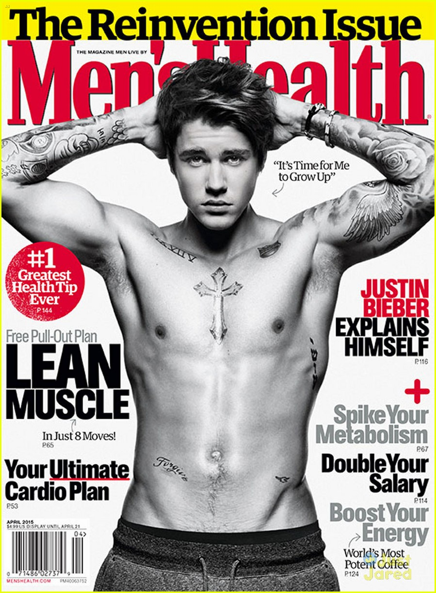 About This Photo Set: Justin Bieber puts his shirtless body on display