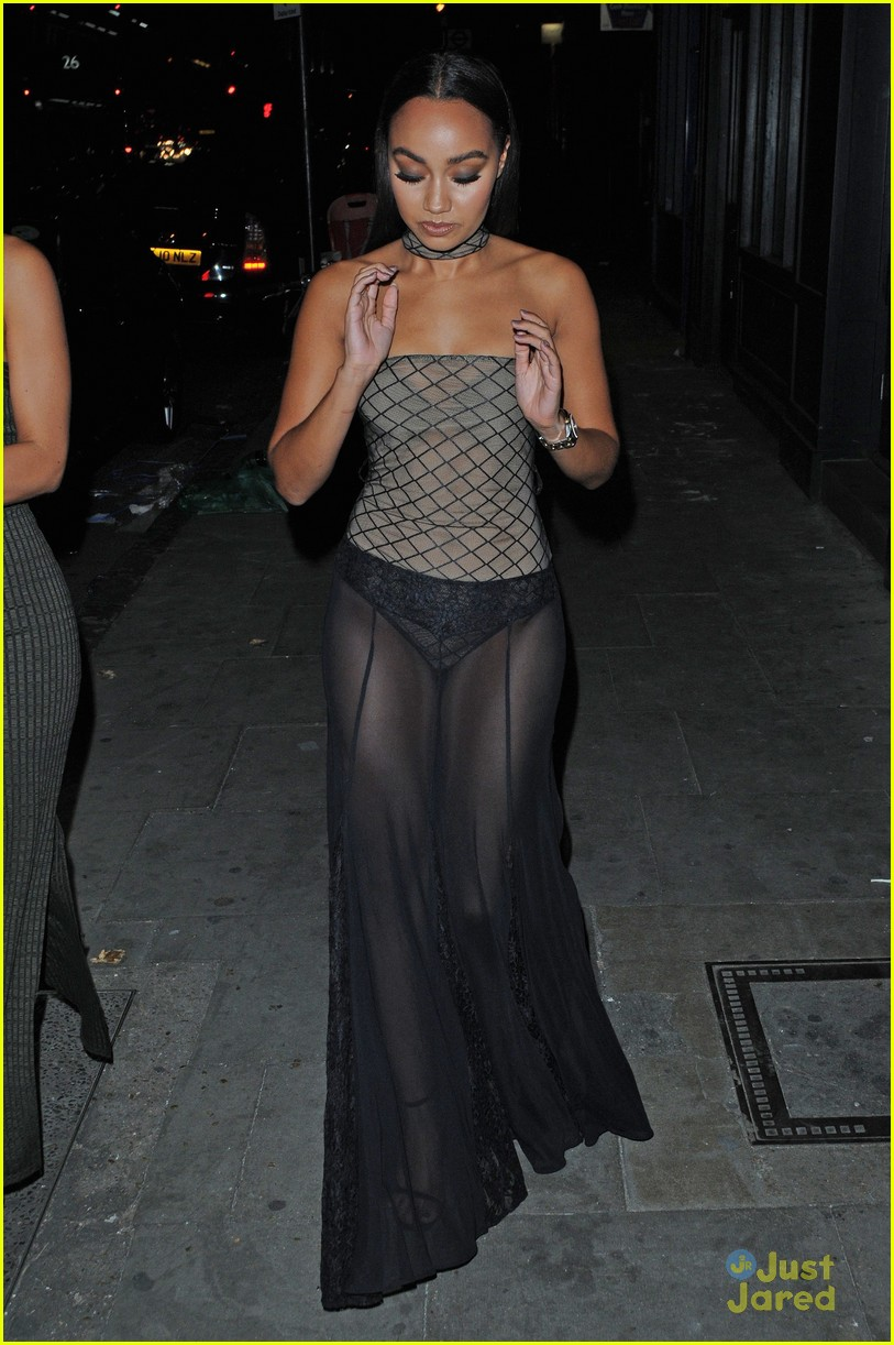 leighanne pinnock goes super sheer for night out in