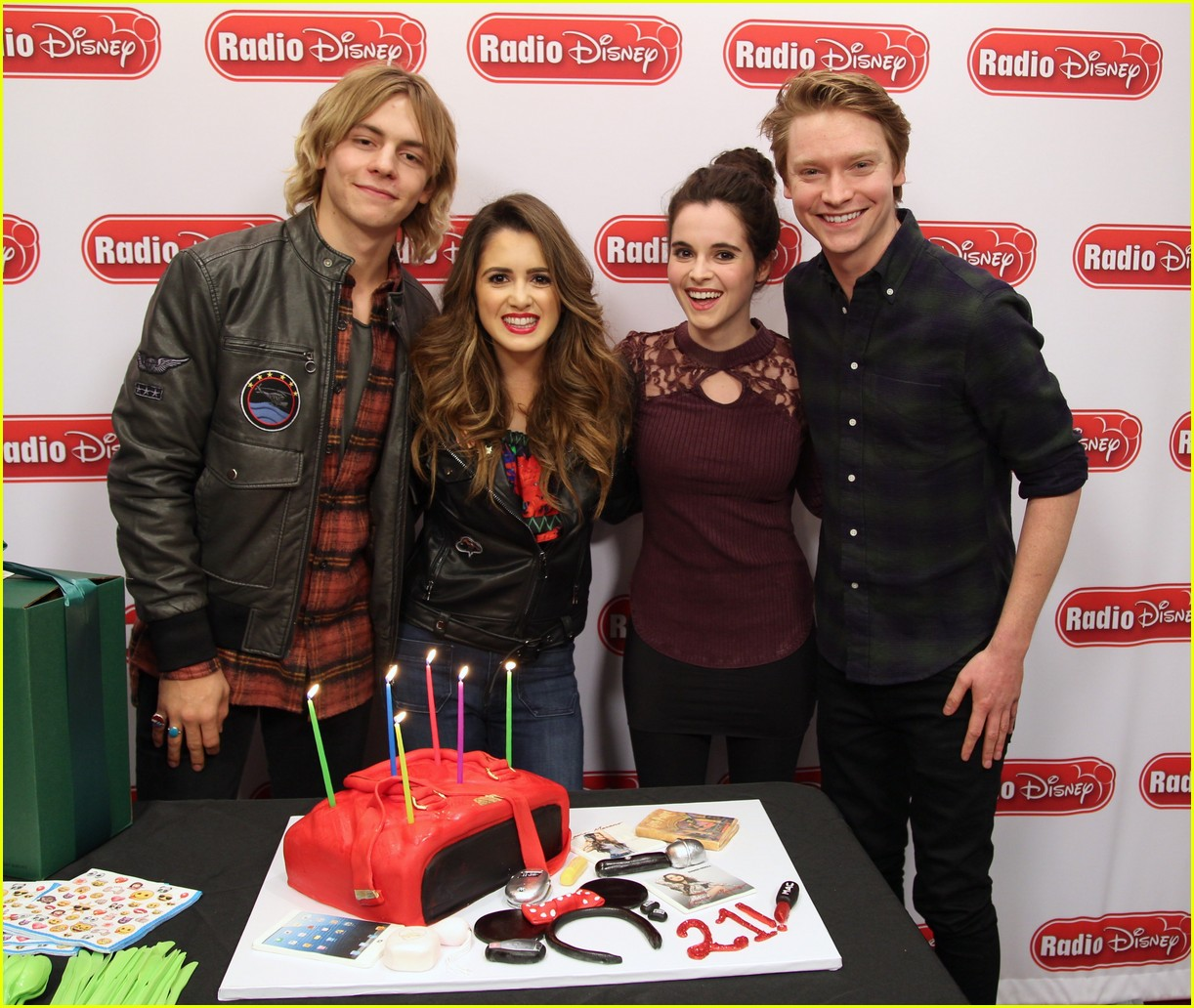 ross lynch surprises laura marano birthday radio disney 01