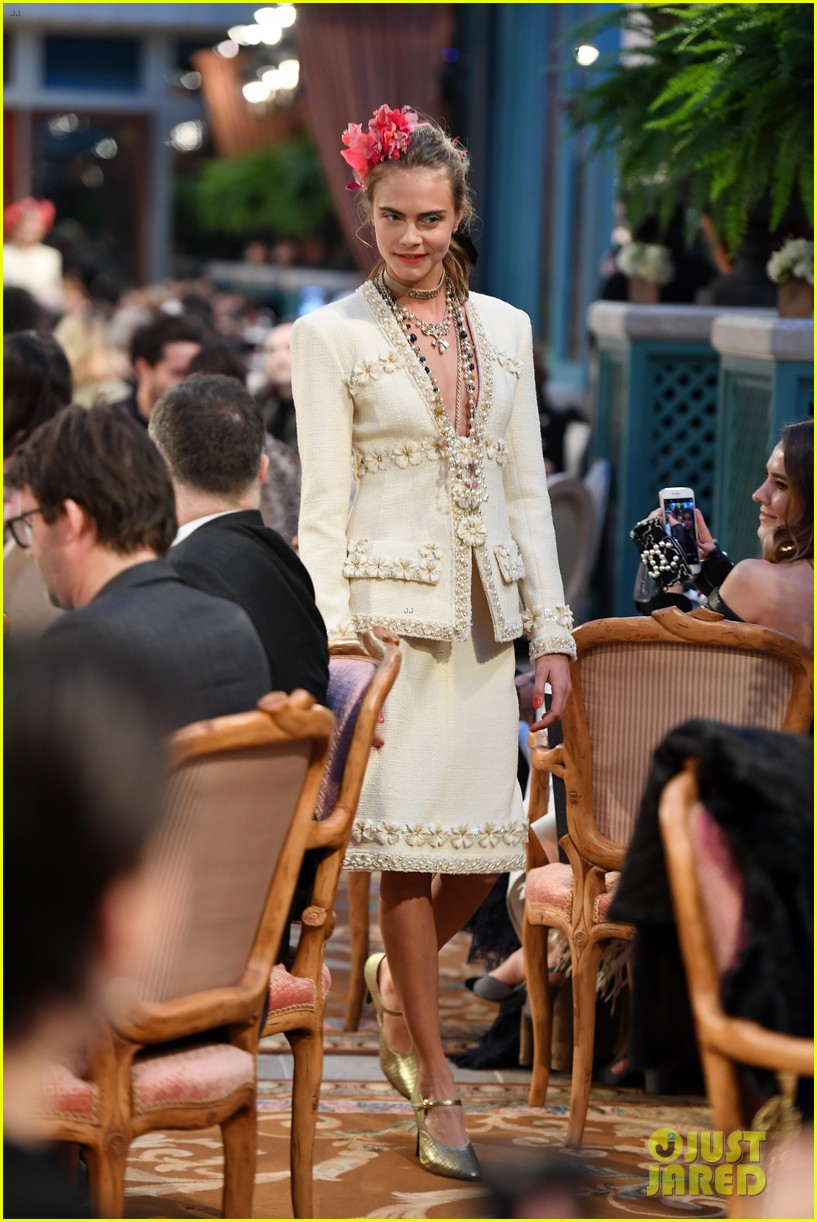 cara delevingne returns to chanel runway with lily rose depp 01