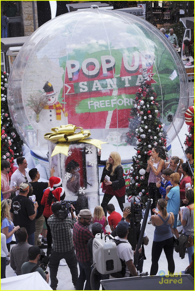 shay mitchell tahj mowry freeform stars pop up santa 04