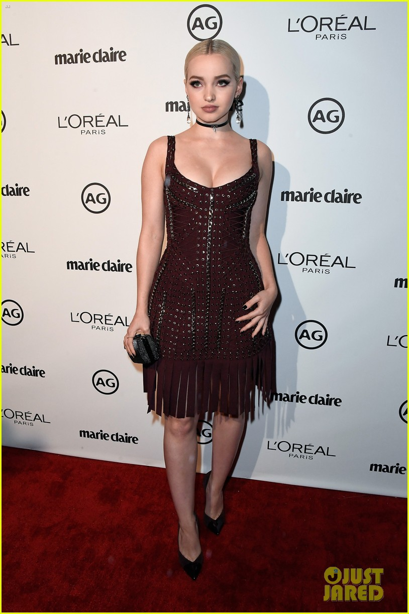 kylie jenner olivia holt dove cameron marie claire event 09