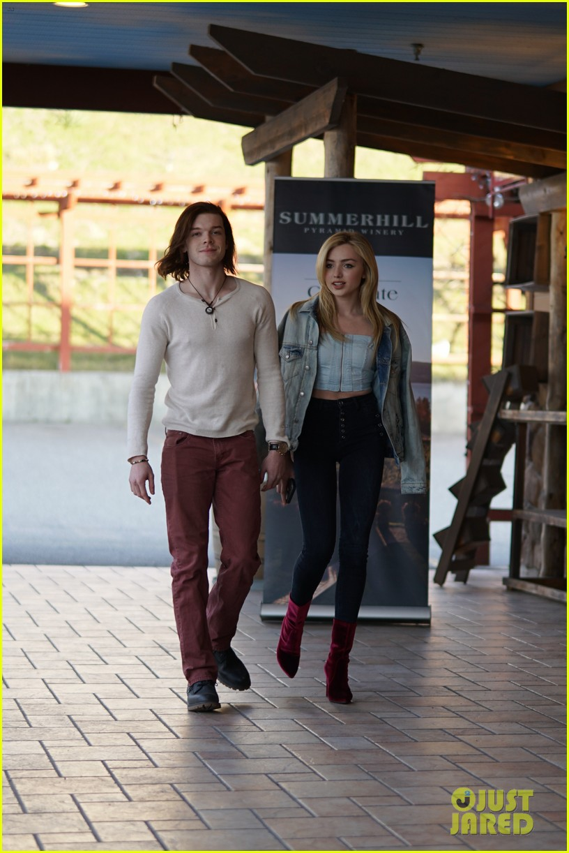 peyton list costar hang offset of their new ya thriller 06