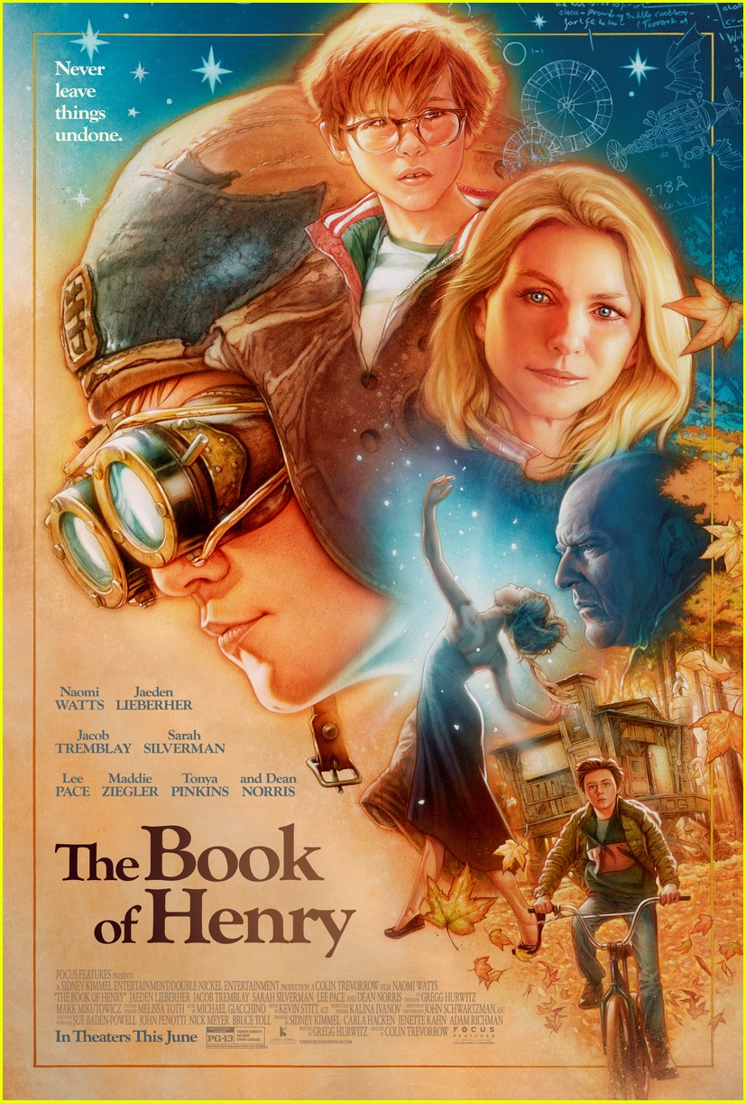 naomi watts is a loving mother in official book of henry poster 02