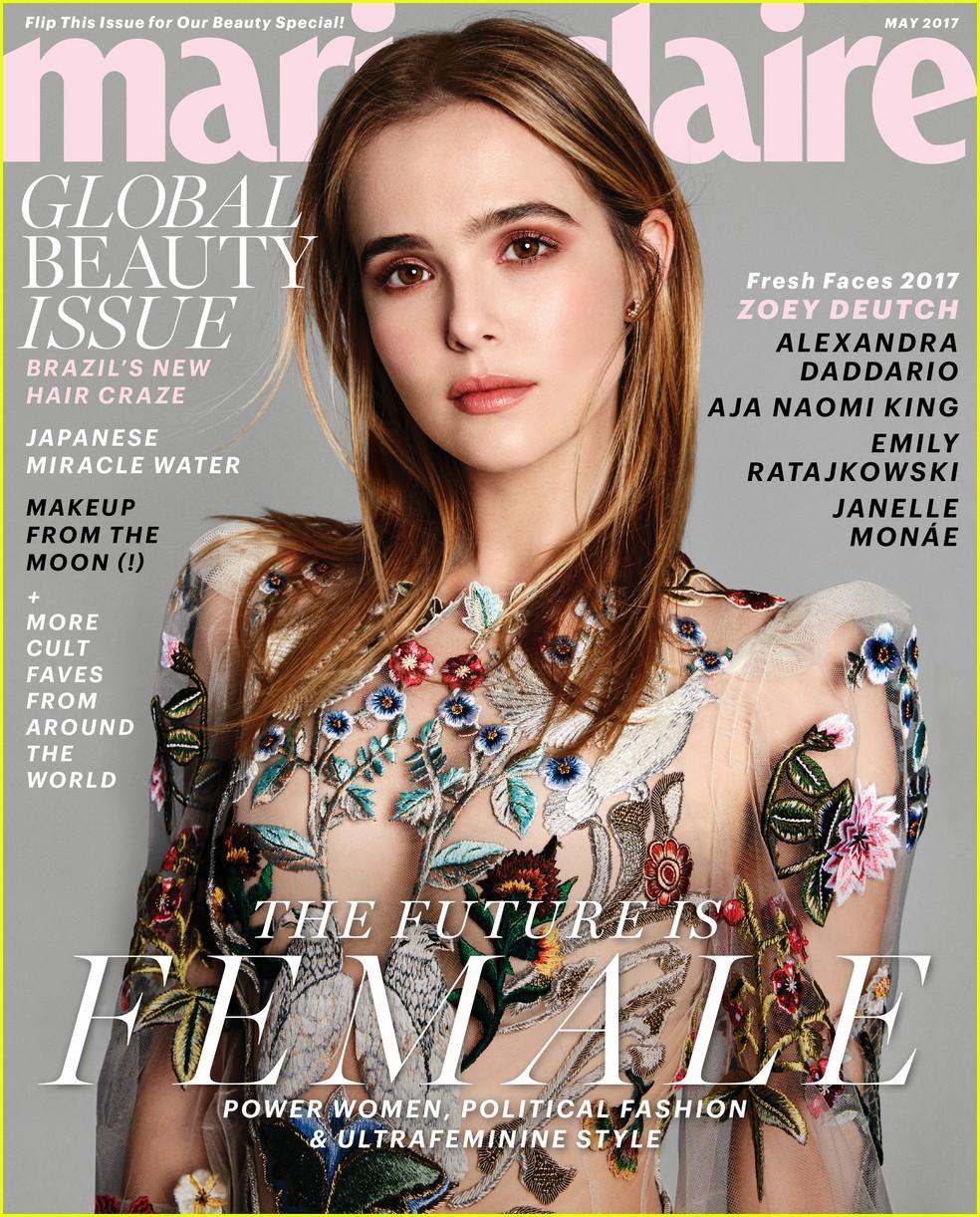 zoey deutch marie claire magazine cover 03