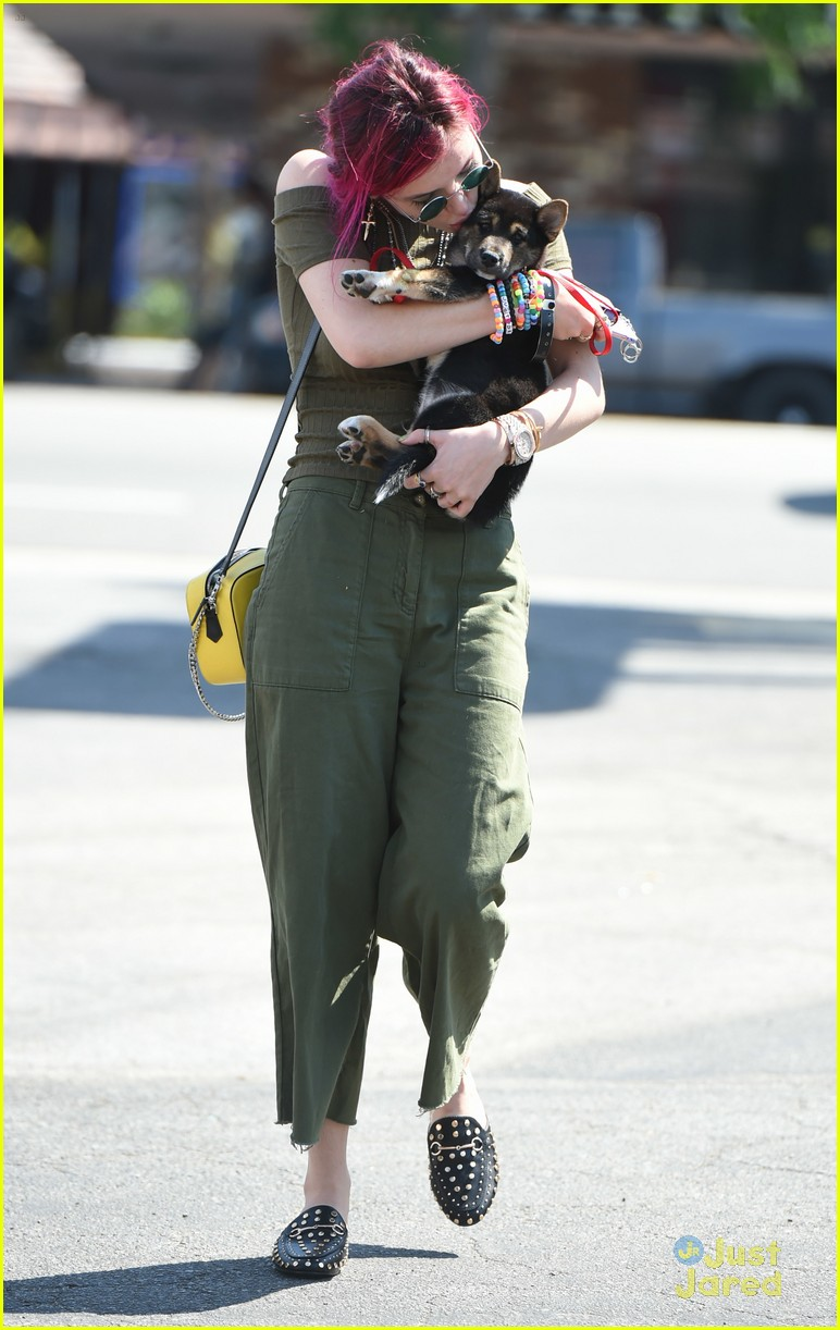bella thorne new dog out lunch sunday 04