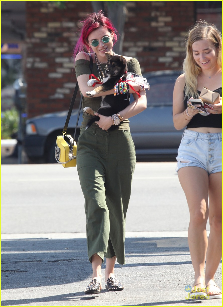 bella thorne new dog out lunch sunday 05