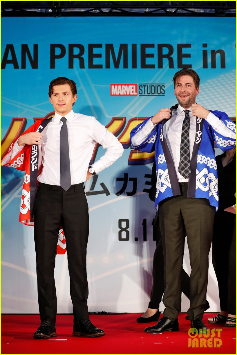 tom holland suits up for spider man homecoming tokyo premiere 01