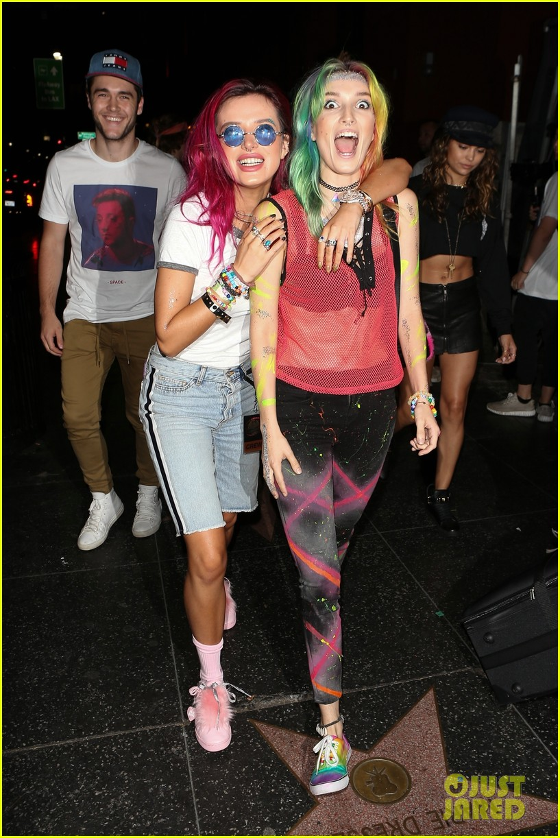 bellathorne and sister dani get colorful at avalon nightclub 05