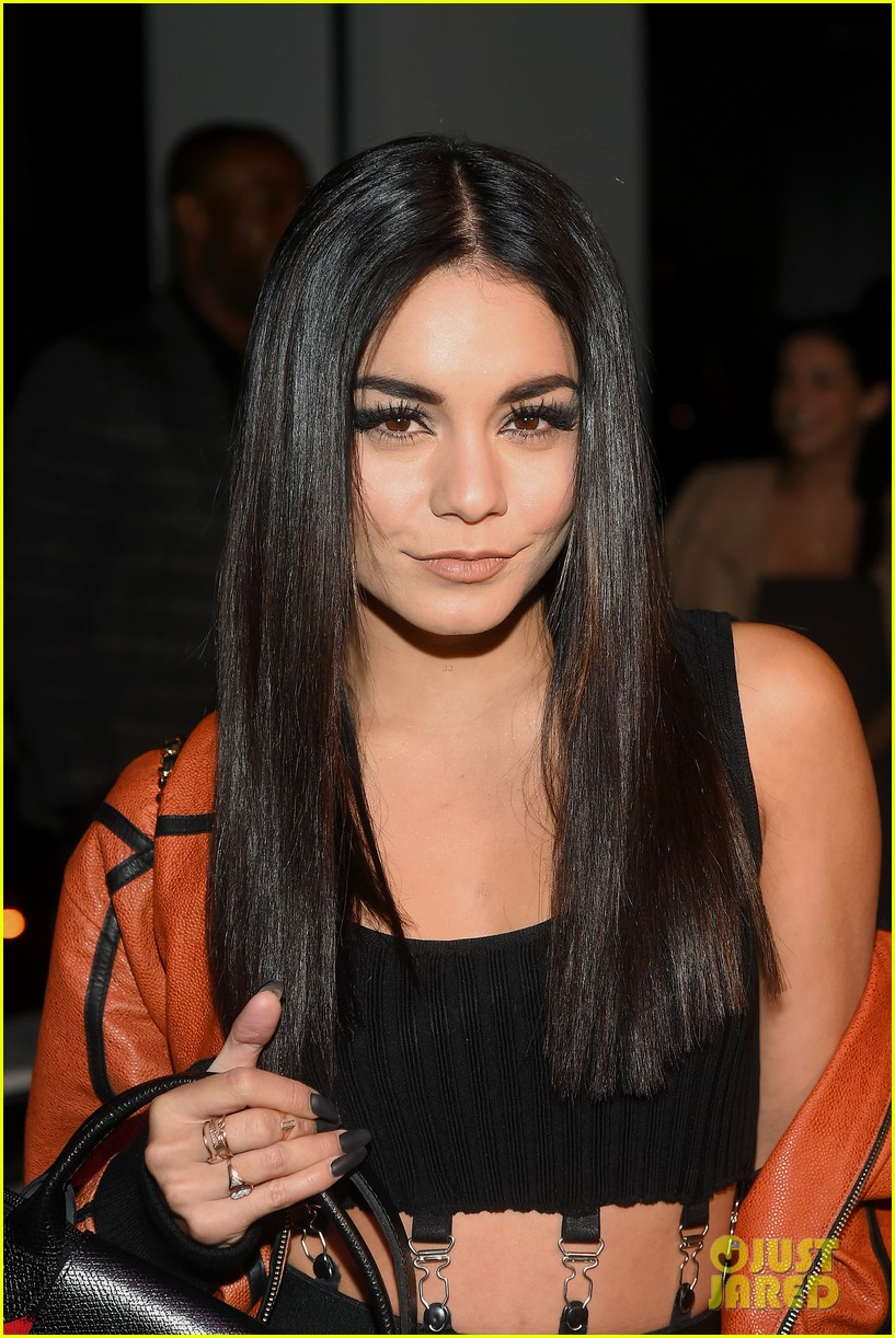 Vanessa Hudgens Sits Front Row at Fashion Week with Austin ...