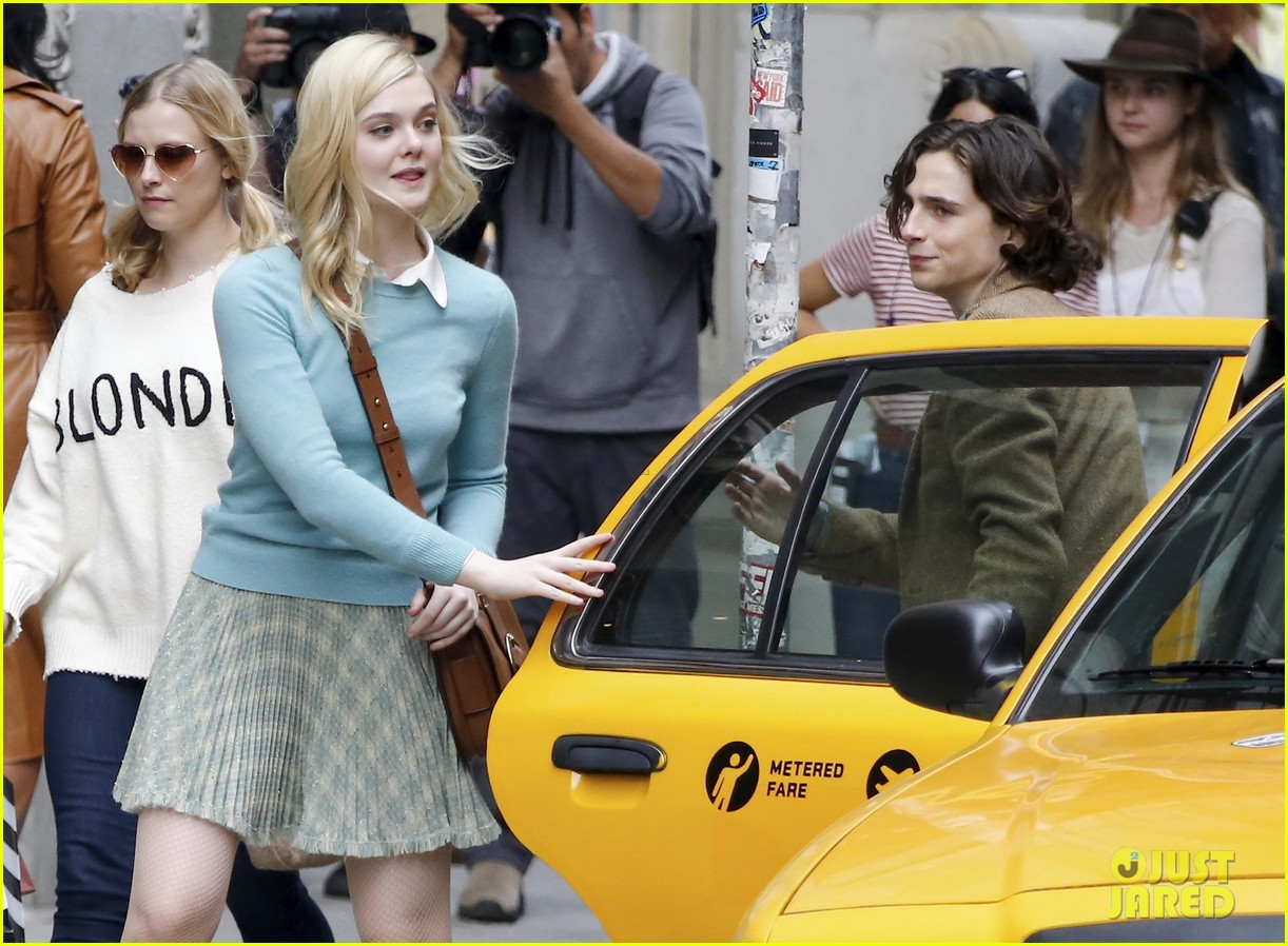 elle fanning timothee chalamet film woody allens upcoming film around nyc 09