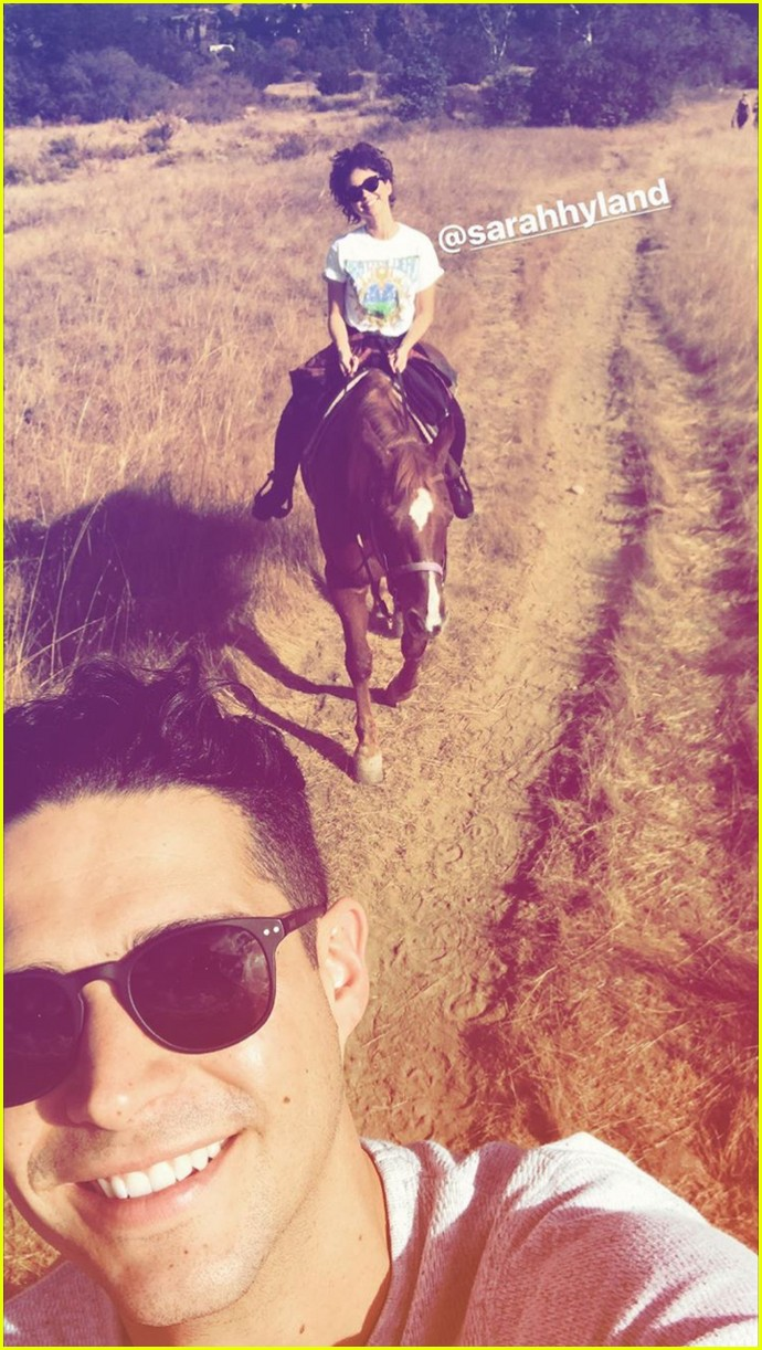 sarah hyland wells adams horseback riding date 04