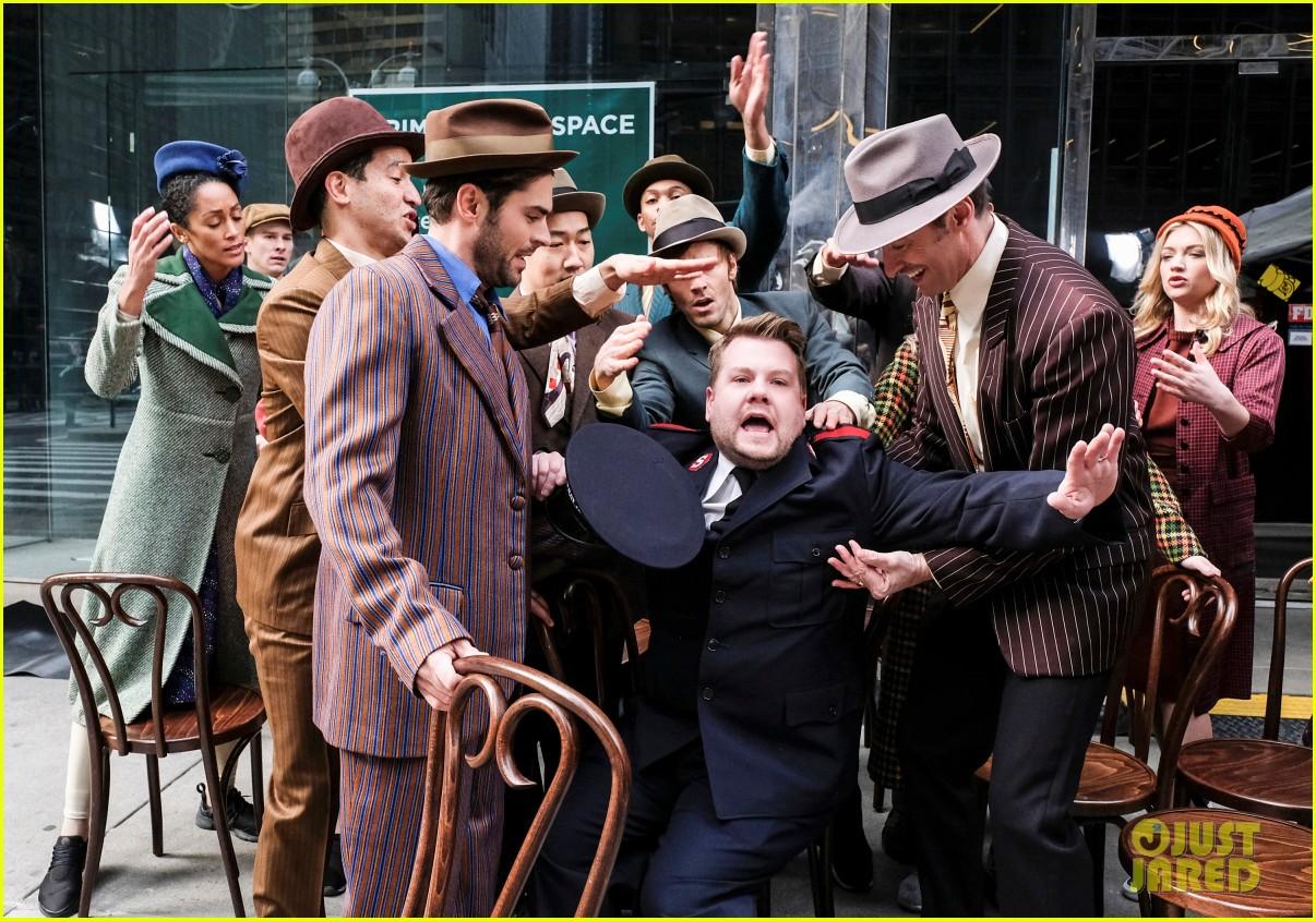zac efron zendaya and hugh jackman join james corden in epic crosswalk musical 02