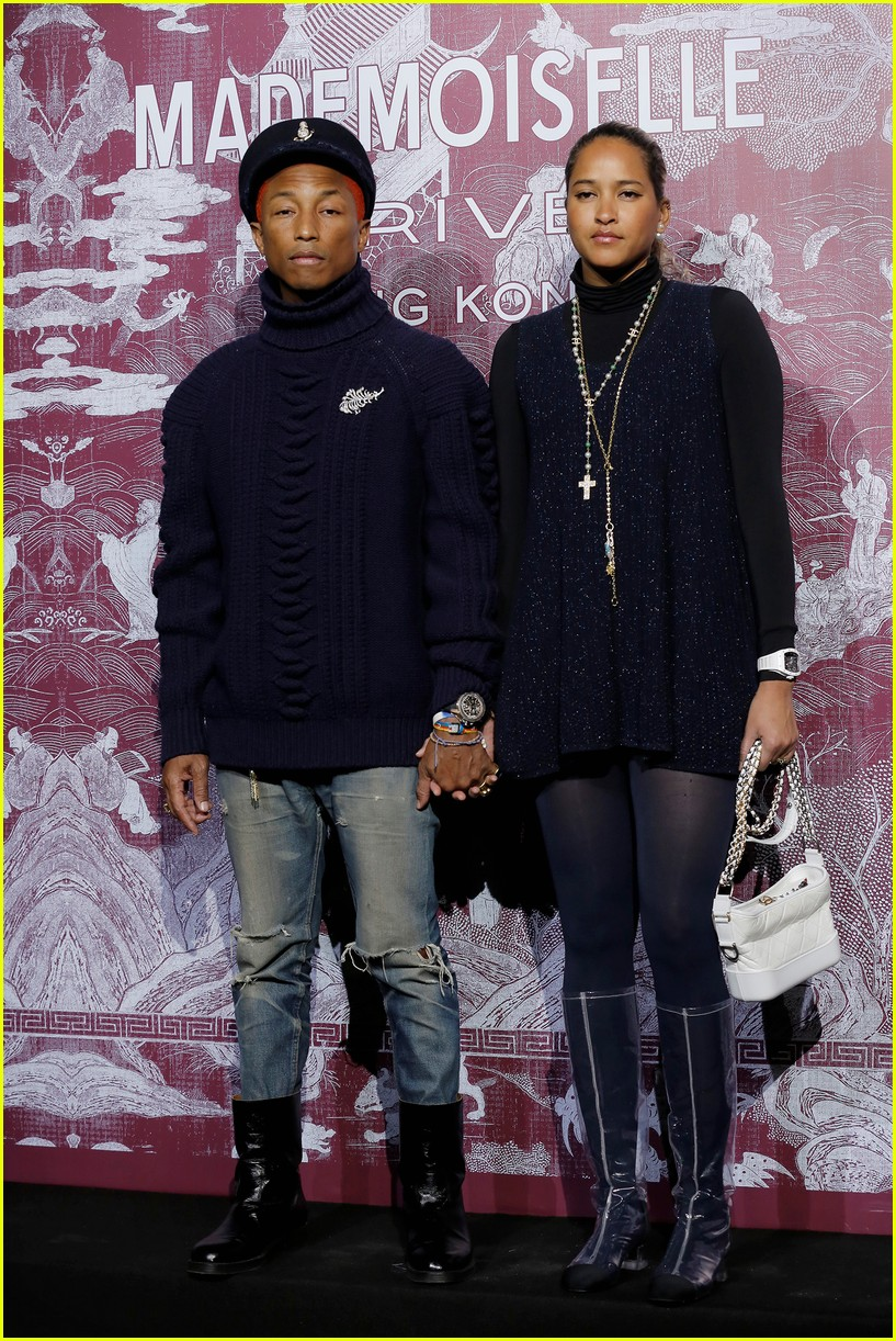 kaia gerber and pharrell williams are chanel chic in hong kong 05