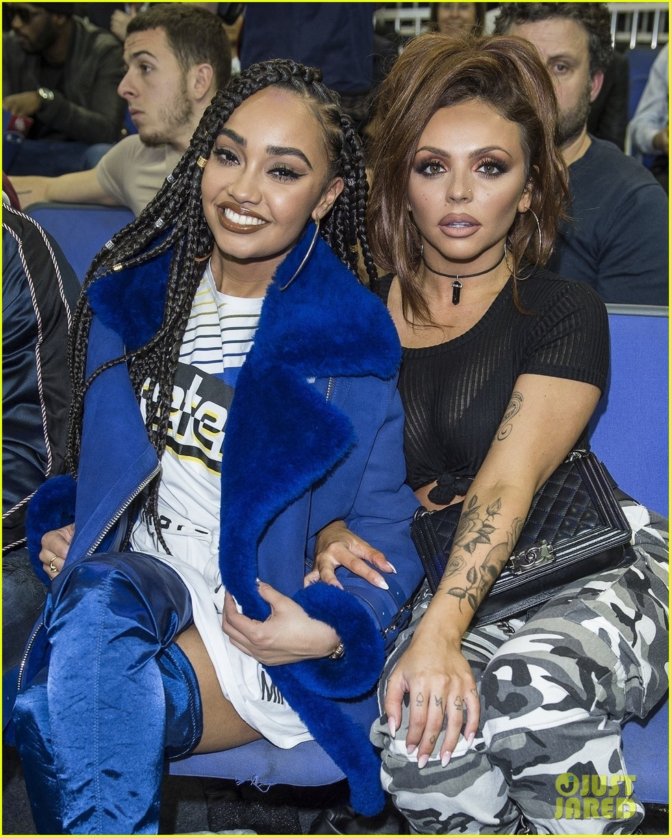 little mix leighanne pinnock jesy nelson attend nba london game 02