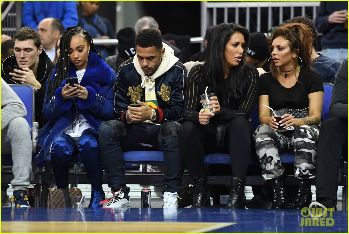 little mix leighanne pinnock jesy nelson attend nba london game 03